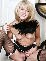 35 year old Zoey plays a hot looking maid in this picture set