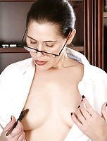 Playing a naughty auditor 37 year old India C. stips down naked